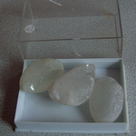 clear quartz Dragon eggs ? crystal  quartz specimens x2  40mm approx      LC-45 @sold@